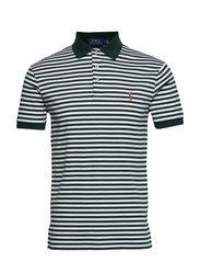 Slim Fit Interlock Polo Shirt - COLLEGE GREEN/WHI