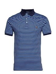 Slim Fit Interlock Polo Shirt - FRENCH NAVY/CABAN