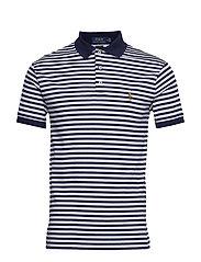 Slim Fit Interlock Polo Shirt - FRENCH NAVY/WHITE