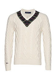 LSCRICKETVN-LONG SLEEVE-SWEATER - CREAM WITH PLAID