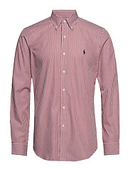 Custom Fit Plaid Stretch Shirt - 4034A RED/WHITE