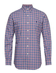 Custom Fit Plaid Stretch Shirt - 4036 NAVY MULTI