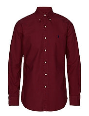 Custom Fit Cotton Oxford Shirt - AUBERGINE