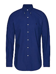 Custom Fit Cotton Oxford Shirt - BLUE YACHT