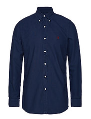 Custom Fit Cotton Oxford Shirt - CRUISE NAVY