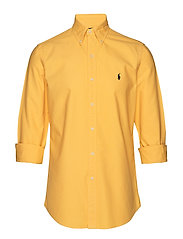 Custom Fit Cotton Oxford Shirt - GOLD BUGLE