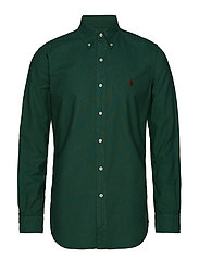 Custom Fit Cotton Oxford Shirt - STUART GREEN