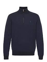 Washable Merino Wool Sweater - NAVY TWO TONE