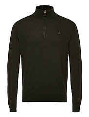 Washable Merino Wool Sweater - OLIVE TWO TONE