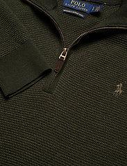 Polo Ralph Lauren - Washable Merino Wool Sweater - half zip jumpers - olive two tone - 3