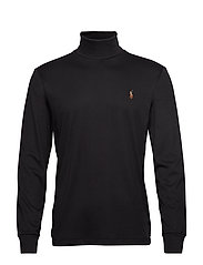 LSTURTLEM1-LONG SLEEVE-KNIT - POLO BLACK