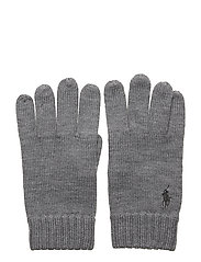 Signature Pony Wool Gloves - FAWN GREY HEATHER