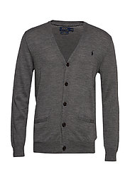 LS SF VN CRD-LONG SLEEVE-SWEATER - FAWN GREY HEATHER