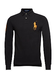 LSKCSLMM2-LONG SLEEVE-KNIT - POLO BLACK