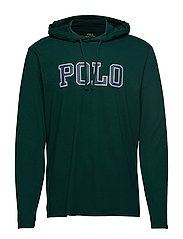LSPOHOODM3-LONG SLEEVE-T-SHIRT - COLLEGE GREEN