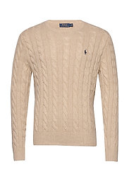 Cable-Knit Cotton Sweater - OATMEAL HEATHER