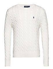 Cable-Knit Cotton Sweater - OLD WHITE