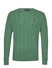 Cable-Knit Cotton Sweater - POTOMAC GREEN HEA