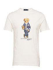 Custom Slim Fit Bear T-Shirt - DECKWASH WHITE