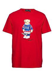 Custom Slim Fit Bear T-Shirt - RL 2000 RED USA B
