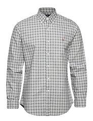 Custom Fit Striped Shirt - 4332 GREY HEATHER