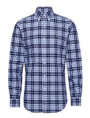 Custom Fit Striped Shirt - 4335 BLUE/NAVY MU
