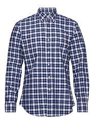 Custom Fit Striped Shirt - 4337 WHITE/BLUE M