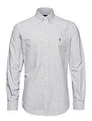 Custom Fit Striped Shirt - 4338E GREY HEATHE