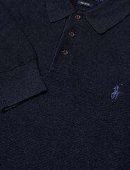 Polo Ralph Lauren - Cotton Polo-Collar Sweater - half zip - navy heather - 2