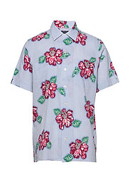 Classic Fit Seersucker Shirt - 4587 HIBISCUS FLO