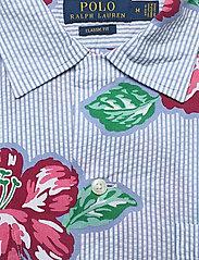 Polo Ralph Lauren - Classic Fit Seersucker Shirt - kortermede skjorter - 4587 hibiscus flo - 2