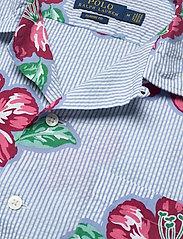 Polo Ralph Lauren - Classic Fit Seersucker Shirt - kortermede skjorter - 4587 hibiscus flo - 3