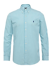 Custom Fit Striped Shirt - 4351H TURQUOISE/W
