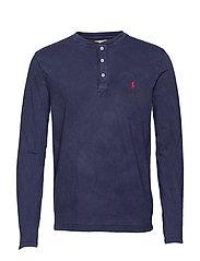 Slub Jersey Henley Shirt - CRUISE NAVY