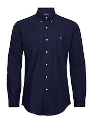Custom Fit Poplin Shirt - NEWPORT NAVY