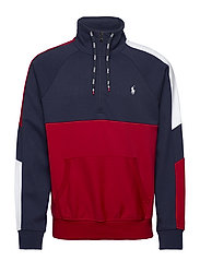 Interlock Quarter-Zip Pullover - CRUISE NAVY MULTI