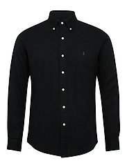 Custom Fit Double-Faced Shirt - POLO BLACK