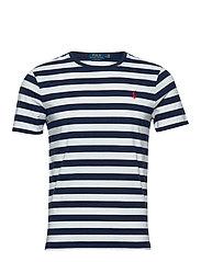 Custom Slim Striped T-Shirt - FRENCH NAVY/WHITE