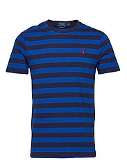 Custom Slim Striped T-Shirt - PACFIC ROYAL/FREN