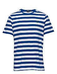 Custom Slim Striped T-Shirt - PACIFIC ROYAL /WH