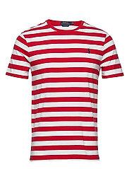 Custom Slim Striped T-Shirt - RL2000 RED /WHITE