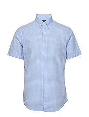 Custom Fit Seersucker Shirt - 4578B LIGHT BLUE/