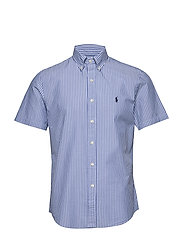 Custom Fit Seersucker Shirt - 4579B LIGHT BLUE/