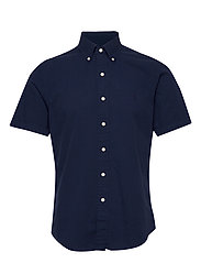 Custom Fit Seersucker Shirt - ASTORIA NAVY