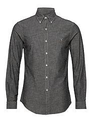 Slim Fit Chambray Shirt - LIGHT GREY