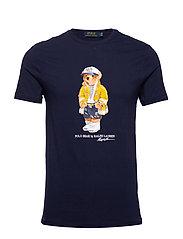 Custom Slim Fit Bear T-Shirt - CRUISE NAVY