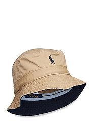 Cotton Chino Bucket Hat - BOATING KHAKI