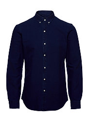 Slim Fit Indigo Oxford Shirt - INDIGO