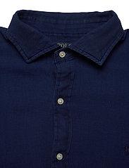 Polo Ralph Lauren - TEXTURE INDIGO WEAV-SLESTPPCS - basic shirts - 4783 dark indigo - 3