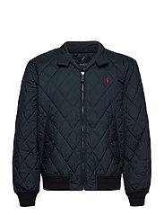 Water-Repellent Quilted Jacket - COLLEGE NAVY